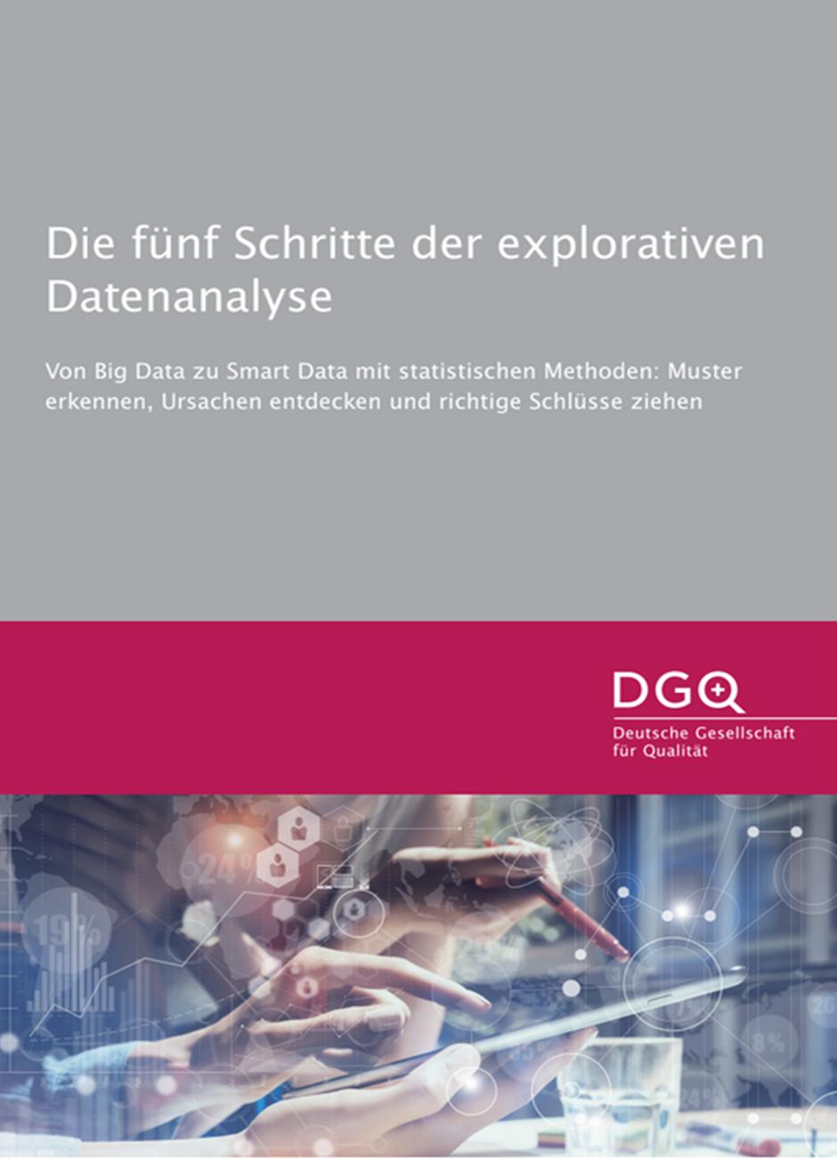 DGQ-Infografik: Die fünf Schritte der explorativen Datenanalyse