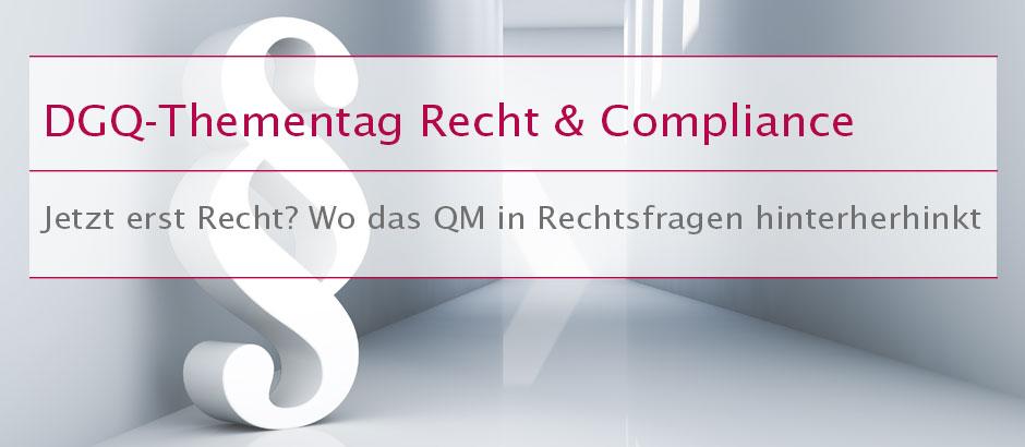 DGQ-Thementag Recht & Compliance